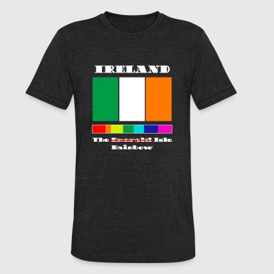 Ireland Ireland The Rainbow Isle Celebrati - Unisex Tri-Blend T-Shirt by American Apparel