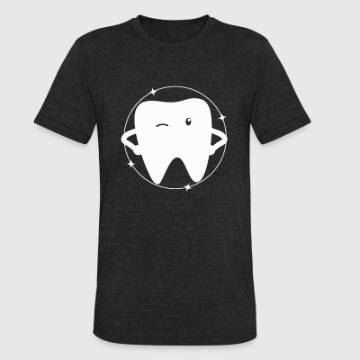 Tooth - Cute Tooth - Unisex Tri-Blend T-Shirt by American Apparel