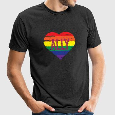 Straight ally - ALLY Shirt - Unisex Tri-Blend T-Shirt by American Apparel