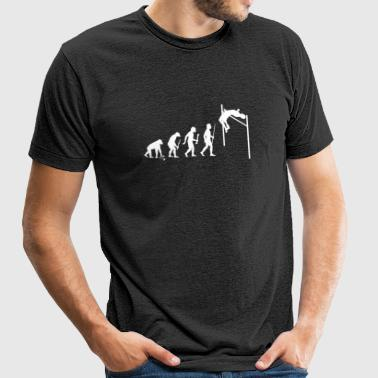 High Jump - Evolution of Man and High Jump - Unisex Tri-Blend T-Shirt by American Apparel