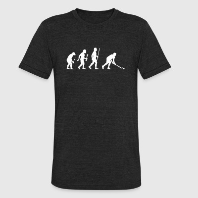 Field Hockey - Evolution of Man and Field Hockey - Unisex Tri-Blend T-Shirt by American Apparel