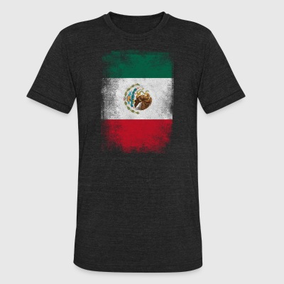 Mexico Flag Proud Mexican Vintage Distressed - Unisex Tri-Blend T-Shirt by American Apparel
