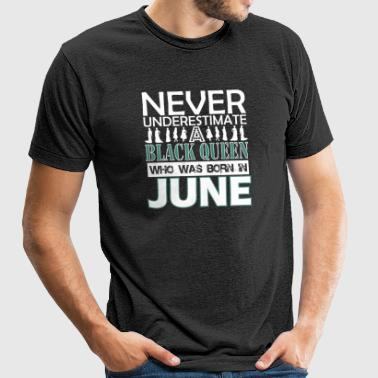 Never Underestimate An Old Man Was Born In June - Unisex Tri-Blend T-Shirt