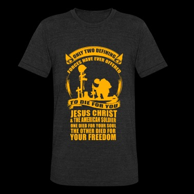 Veteran - Military Veteran Soldier Jesus Christ - Unisex Tri-Blend T-Shirt