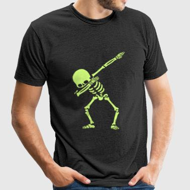 Skeleton - Dabbing Skeleton Dab Hip Hop Skull D - Unisex Tri-Blend T-Shirt