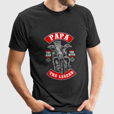 Grandfather - papa is the legend - Unisex Tri-Blend T-Shirt