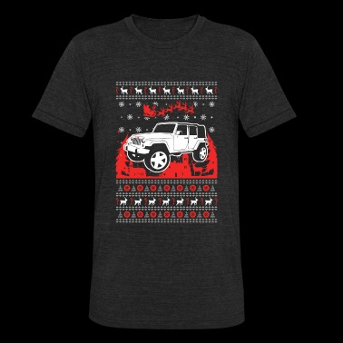 Jeep Ugly Christmas Sweater - Unisex Tri-Blend T-Shirt