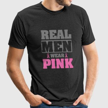 Breast cancer - Real men wear pink - Unisex Tri-Blend T-Shirt