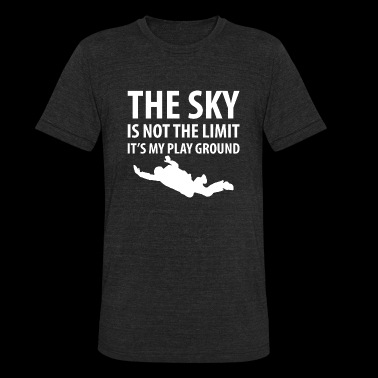 Skydiving - The Sky is Not the Limit Skydiving - Unisex Tri-Blend T-Shirt