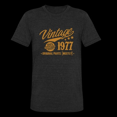 1977 - 41st Birthday Gift Vintage 41 Years Old - Unisex Tri-Blend T-Shirt