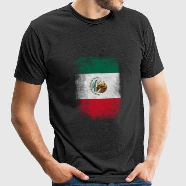 Mexico Flag Proud Mexican Vintage Distressed - Unisex Tri-Blend T-Shirt