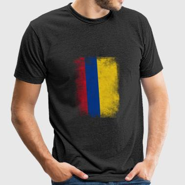 Colombia Flag Proud Colombian Vintage Distressed - Unisex Tri-Blend T-Shirt