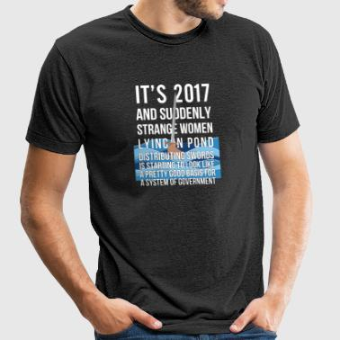 2017 Suddenly Strange Women Lying In Pond - Unisex Tri-Blend T-Shirt