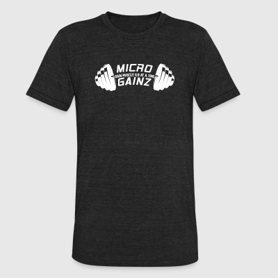 Micro Gainz - Unisex Tri-Blend T-Shirt by American Apparel