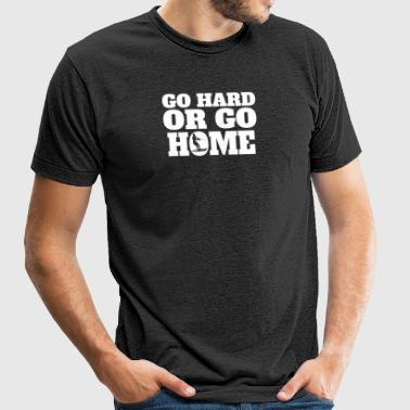 Go Hard Or Go Home Waterskiing - Unisex Tri-Blend T-Shirt by American Apparel