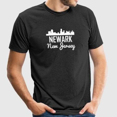 Newark New Jersey Skyline - Unisex Tri-Blend T-Shirt by American Apparel