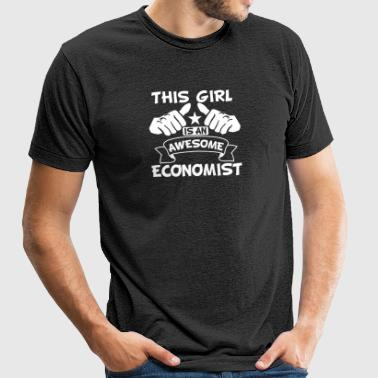 This Girl Is An Awesome Economist - Unisex Tri-Blend T-Shirt by American Apparel
