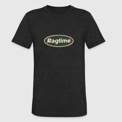 ragtime oval - Unisex Tri-Blend T-Shirt by American Apparel