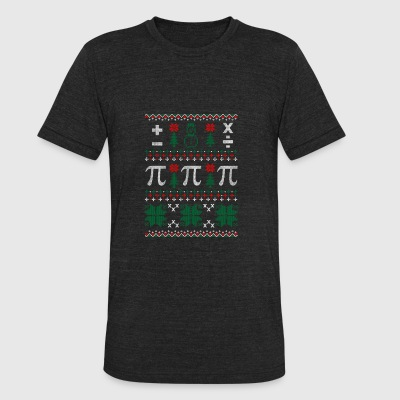Math Ugly Christmas Sweater - Unisex Tri-Blend T-Shirt by American Apparel