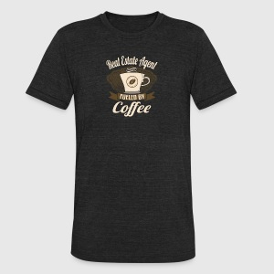 Real Estate Agent Fueled By Coffee - Unisex Tri-Blend T-Shirt by American Apparel