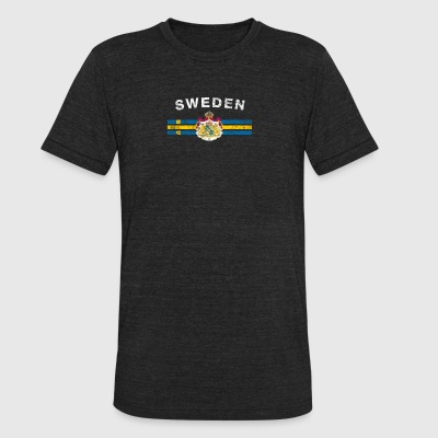 Swede Flag Shirt - Swede Emblem & Sweden Flag Shir - Unisex Tri-Blend T-Shirt by American Apparel