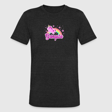 Funny Ironic Cool Unicorn Gangsta Rap Tee Shirt - Unisex Tri-Blend T-Shirt