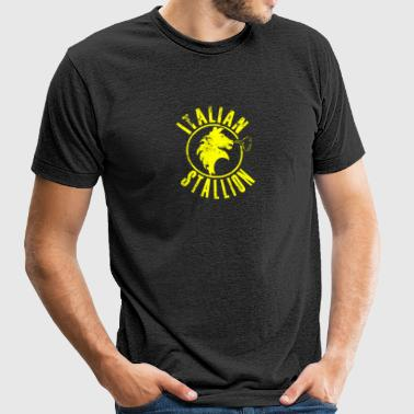 ITALIAN STALLION - Unisex Tri-Blend T-Shirt by American Apparel