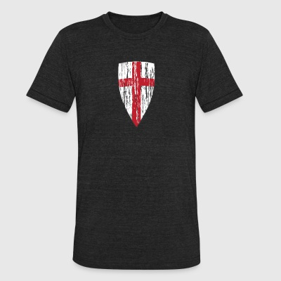 Crusader Shield Flag - Unisex Tri-Blend T-Shirt by American Apparel