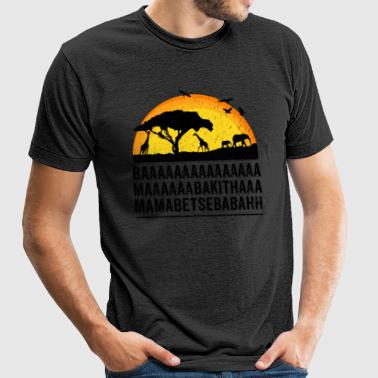 Funny African Film Elephant Birds Lion King Shirt - Unisex Tri-Blend T-Shirt