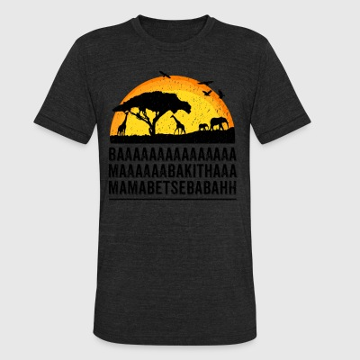 Funny African Film Elephant Birds Lion King Shirt - Unisex Tri-Blend T-Shirt by American Apparel