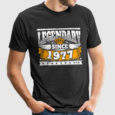 Legend Birthday: Legendary since 1977 birth year - Unisex Tri-Blend T-Shirt by American Apparel