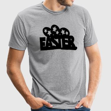 Easter txt & Easter  eggs - Unisex Tri-Blend T-Shirt