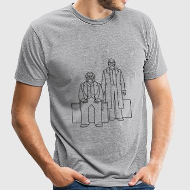Marx-Engels Forum Berlin - Unisex Tri-Blend T-Shirt
