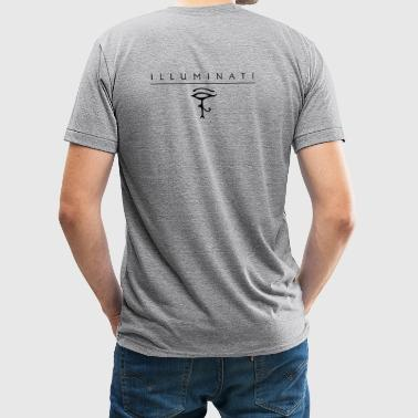 illuminati + Eye of Horus - Unisex Tri-Blend T-Shirt