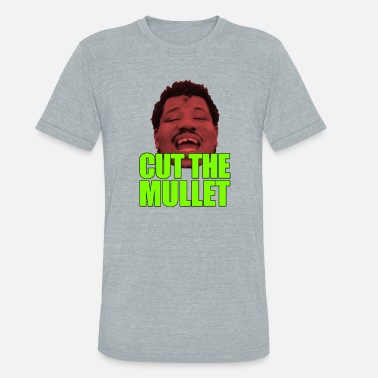 Wesley Willis Cut the mullet - Unisex Tri-Blend T-Shirt