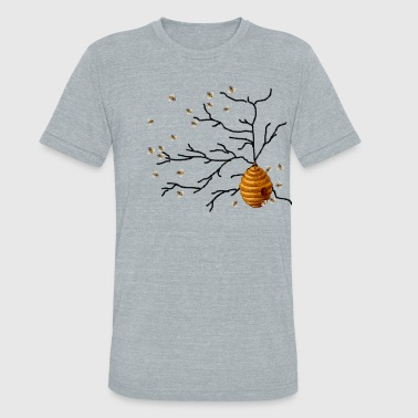 Hive Honey Bees - Unisex Tri-Blend T-Shirt