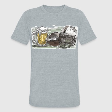 Beer and Football - Unisex Tri-Blend T-Shirt