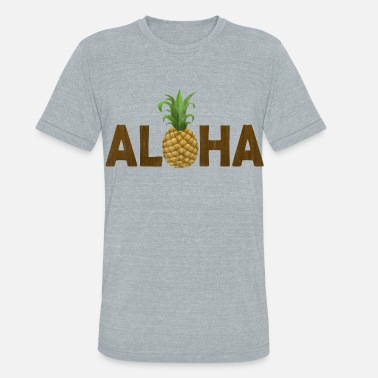 Hawaiian Food Aloha Pineapple Vintage Hawaiian - Unisex Tri-Blend T-Shirt