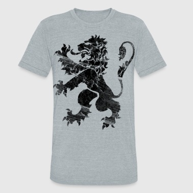 Black Lion Rampant - Unisex Tri-Blend T-Shirt