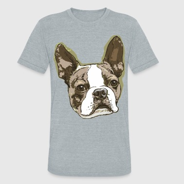 Boston Terrier Big Dot - Unisex Tri-Blend T-Shirt