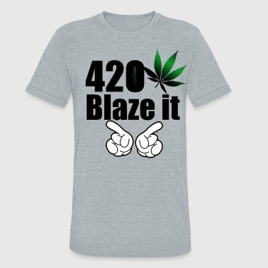 420 Blaze it Tank - Unisex Tri-Blend T-Shirt