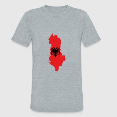 Flamuri Flag map of Albania svg - Unisex Tri-Blend T-Shirt