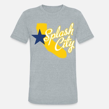 Dope Basketball Splash City Oakland California Basketball - Unisex Tri-Blend T-Shirt