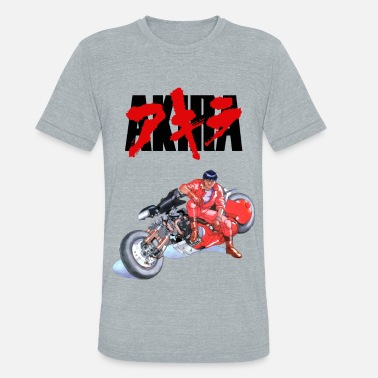 Anime Kaneda Akira Kaneda and His Bike - Unisex Tri-Blend T-Shirt