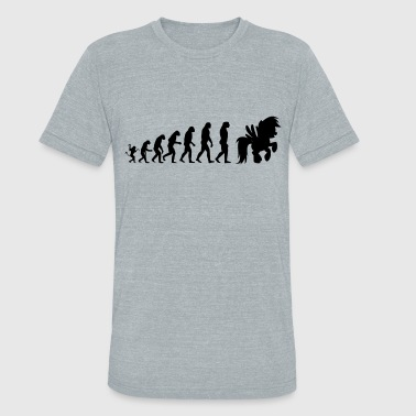 Horse evolution - Unisex Tri-Blend T-Shirt