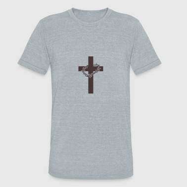 Christ, Jesus, Cross, Gift, Idea - Unisex Tri-Blend T-Shirt