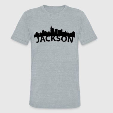 Arc Skyline Of Jackson MS - Unisex Tri-Blend T-Shirt