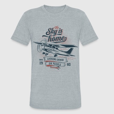 The sky is home - Unisex Tri-Blend T-Shirt