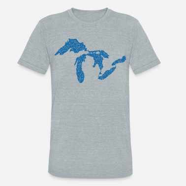 Great Lakes State The Great Lakes - Unisex Tri-Blend T-Shirt