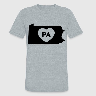 Pennsylvania - Made In Pennsylvania I Love Pennsylvania State - Unisex Tri-Blend T-Shirt